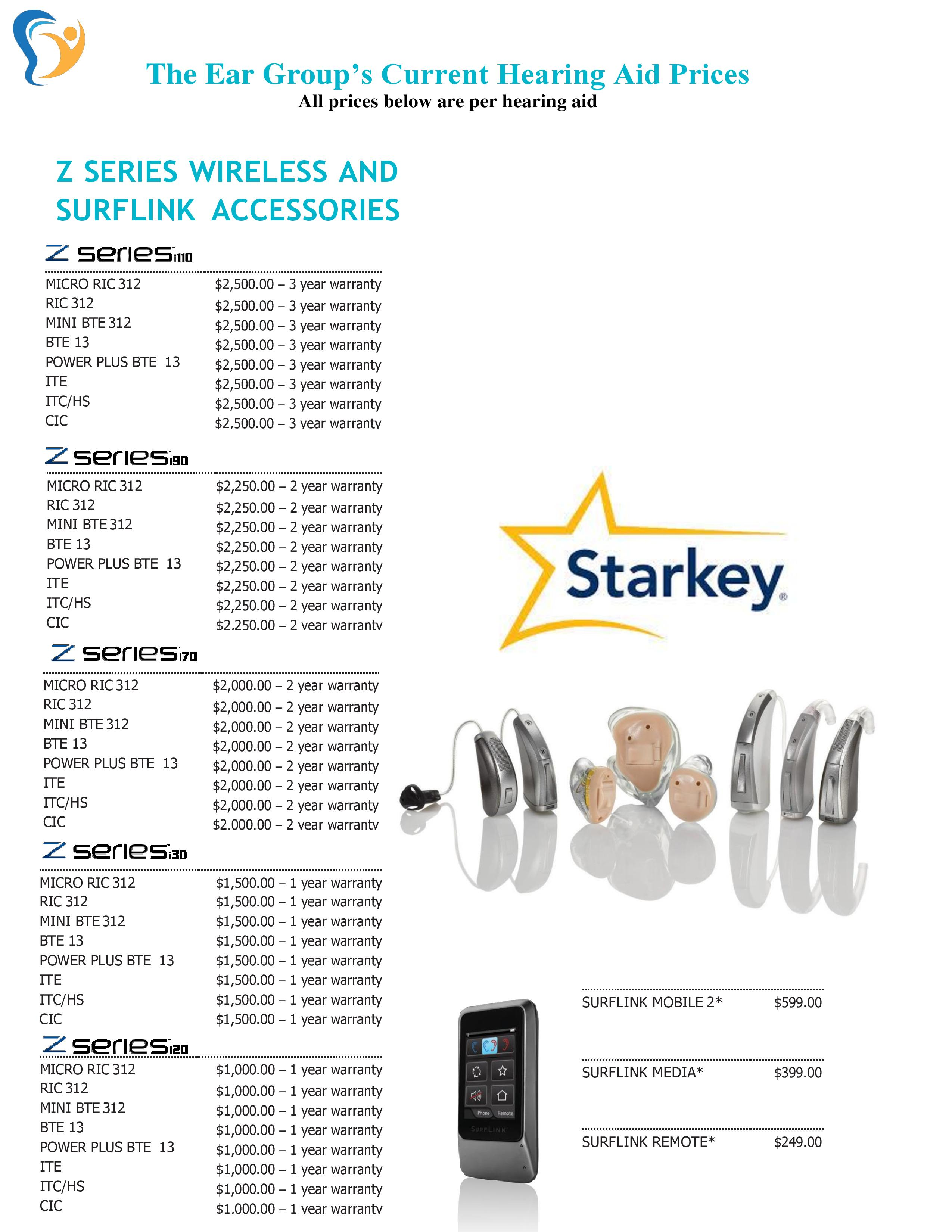 Hearing Aid Cost >> Z Series Hearing Aid Prices The Ear Group
